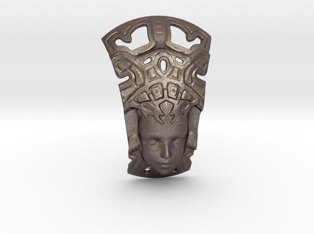 Mayan Princess V25 7.5 Cm in Polished Bronzed Silver Steel