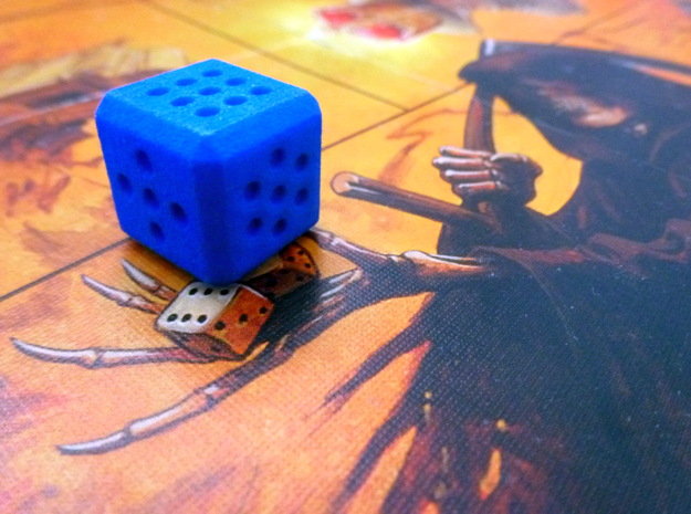 Variable pip die - roll your own dice in Blue Processed Versatile Plastic
