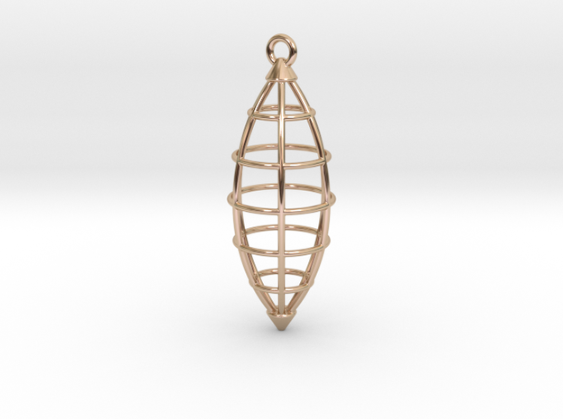 Pendant in 14k Rose Gold Plated Brass