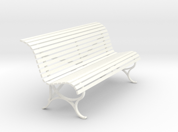 RhB Bench - old type in White Processed Versatile Plastic