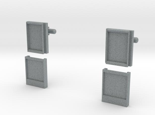 POLAROID MICROS SD CUFFLINKS in Polished Metallic Plastic