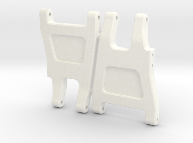 Quadra RC10 V2 Rear Arms in White Processed Versatile Plastic