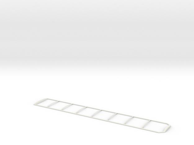 1/64 Walking Floor Trailer Tarp Frame in White Natural Versatile Plastic