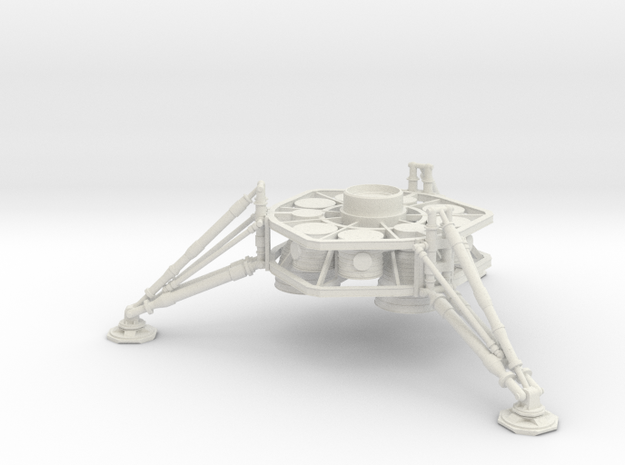 1/200 NASA/JPL MARS ASCENT VEHICLE LANDING LEGS in White Natural Versatile Plastic