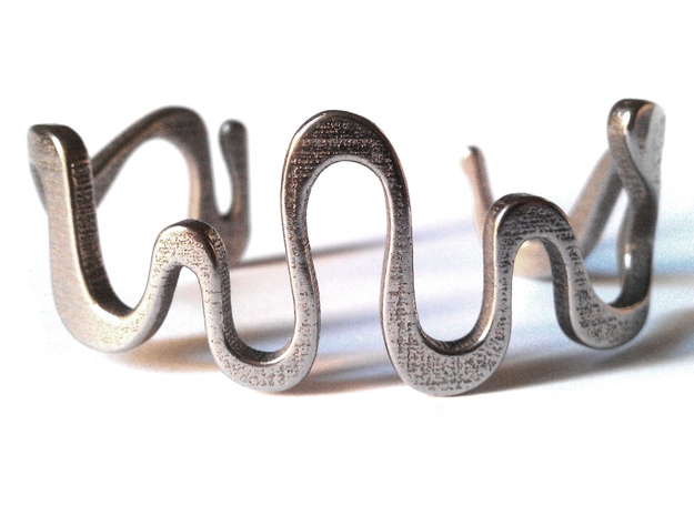 snake cuff size M 3d printed Stainless Steel