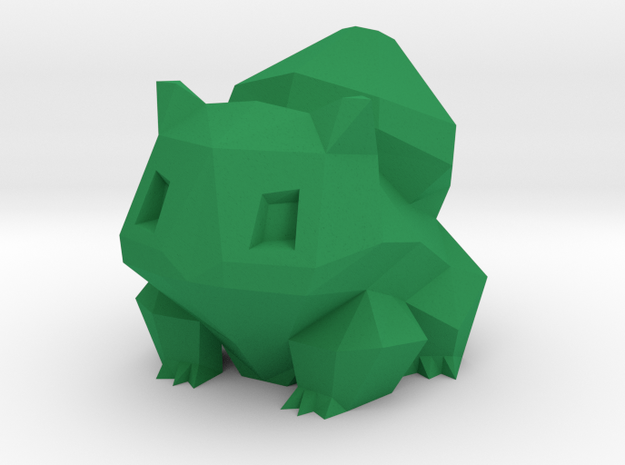 Low Poly Bulbasaur in Green Strong & Flexible Polished