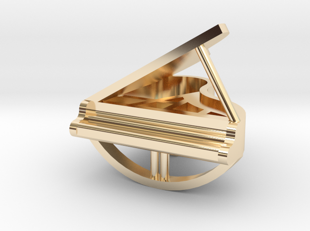 Grand piano pendant in 14k Gold Plated Brass