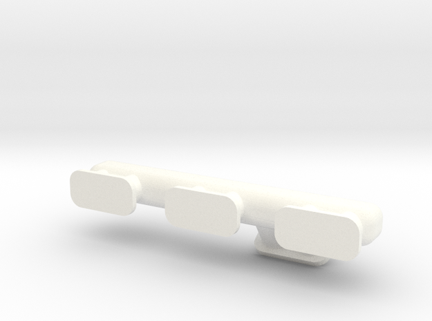 Straight Six 1-10 Exhaust Manifold  in White Processed Versatile Plastic