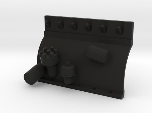 Straight Six 1-10 Left Block side in Black Natural Versatile Plastic