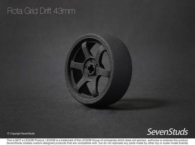 Drifting Wheel 43mm in Black Strong & Flexible