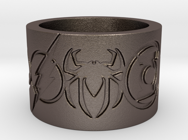 Superheros Engraved Ring Size 7.5 in Stainless Steel