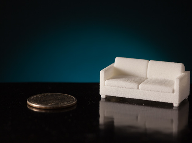1:48 Davis Apartment Sofa in White Natural Versatile Plastic