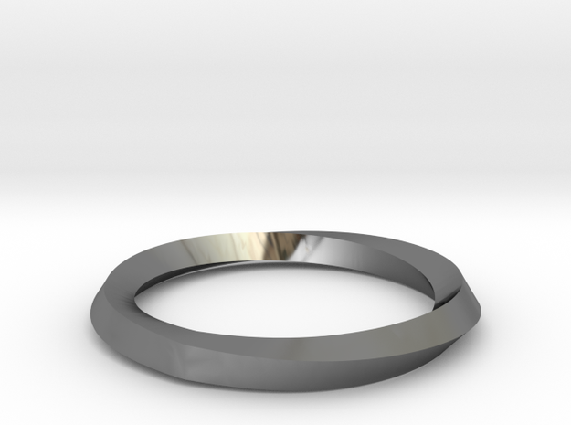 Mobius Wedding Ring-size7.75 in Premium Silver