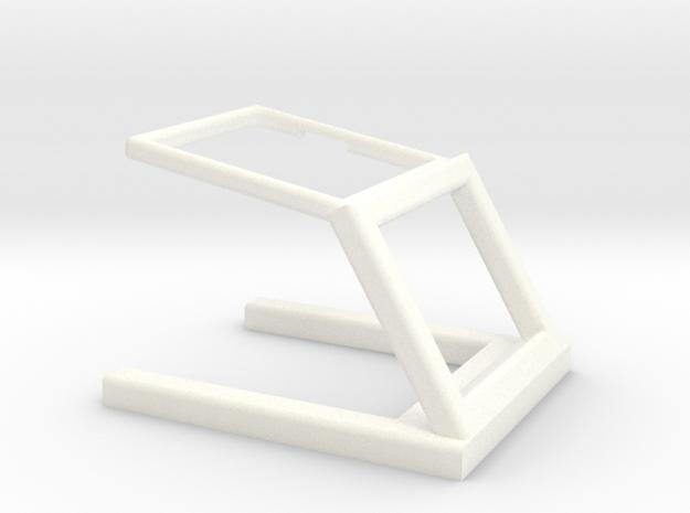 Pebble Stand in White Processed Versatile Plastic