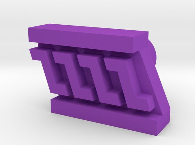 Leather stamp 9, border weave pattern in Purple Processed Versatile Plastic