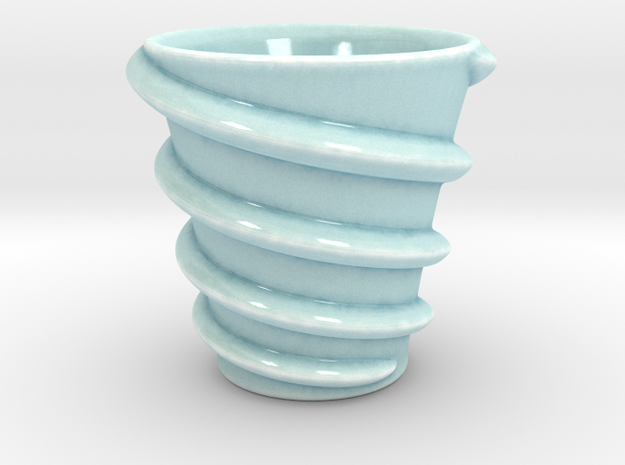 Maelstrom cup (Twin stream) 3d printed