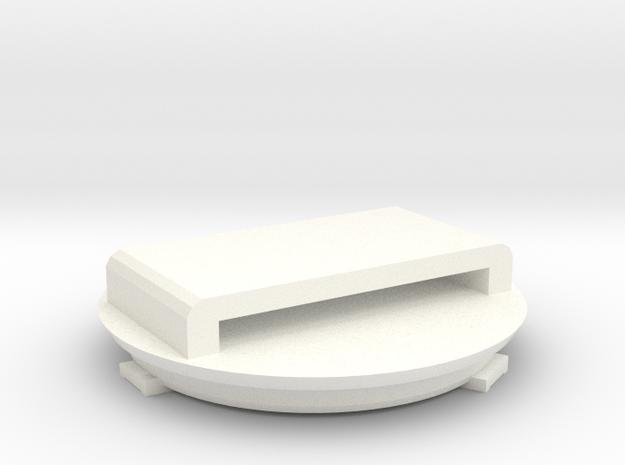 Flic strap clip with custom text in White Processed Versatile Plastic