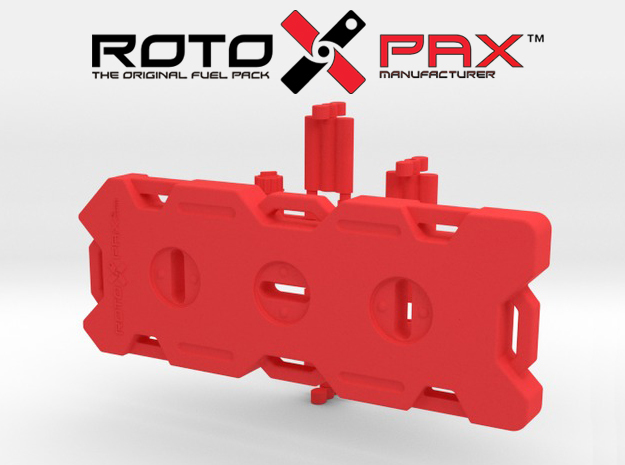 AJ10015 RotopaX 4 Gallon Fuel Pack - RED in Red Strong & Flexible Polished