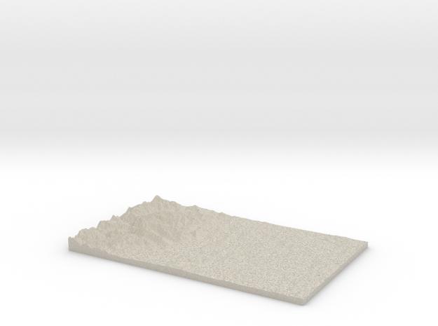 Model of Toandos Peninsula in Natural Sandstone