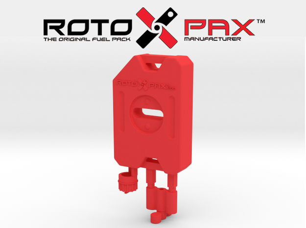 AJ10016 RotoPax 1 Gallon Fuel Pack - RED in Red Processed Versatile Plastic