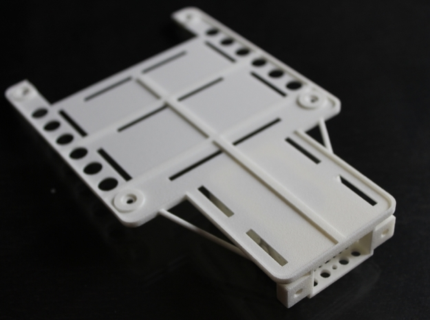 DJI Phantom Custom FPV Undertray -Fatshark (d3wey) 3d printed Overview - this side will not be visible when fitted
