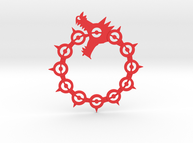 Maliodas The Dragon Sin logo in Red Strong & Flexible Polished