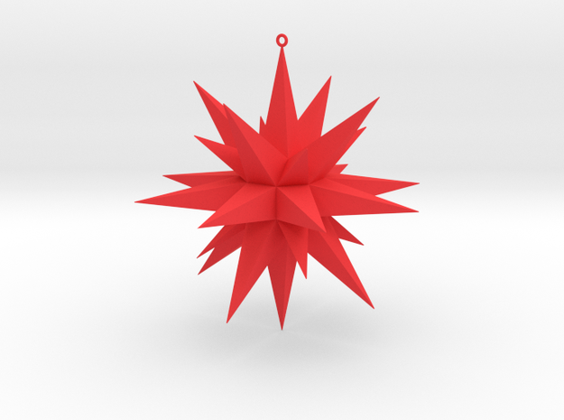 Christmas Star  in Red Processed Versatile Plastic