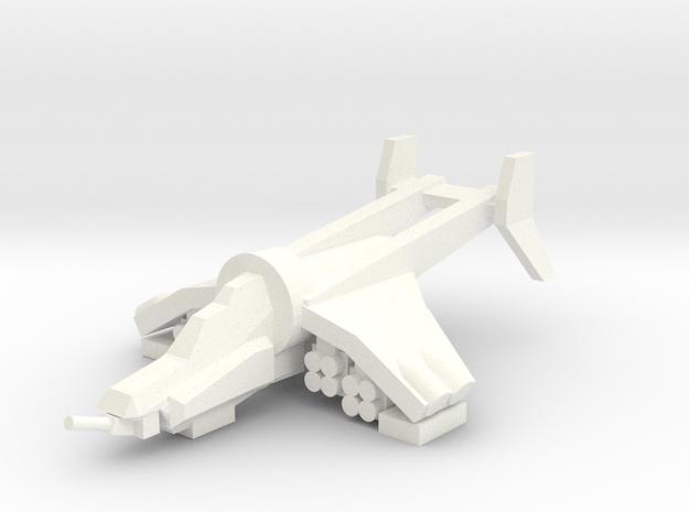 [5] Gunship (Autocannon Turret, ATGM) in White Processed Versatile Plastic