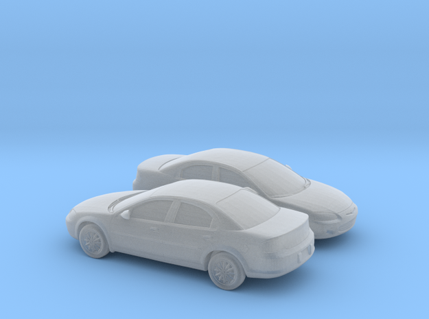 1/160 2X 2000-03 Chrysler Sebring Sedan in Smooth Fine Detail Plastic