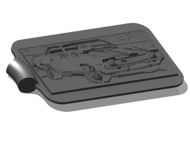 Camaro 67 Z28 Background Key Fob 3d printed