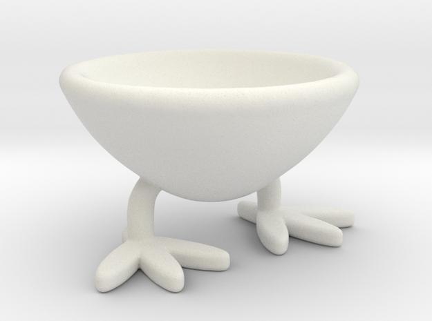 Two-legged Coquetier in White Natural Versatile Plastic