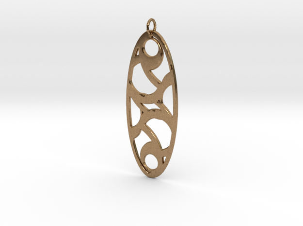 Circle Pendant in Natural Brass