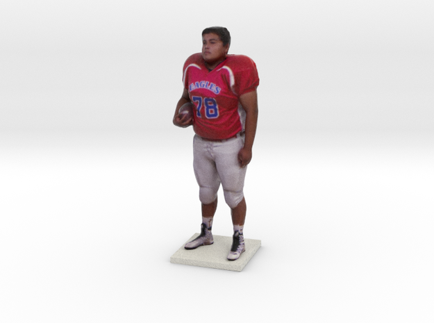 Football Player in Full Color Sandstone