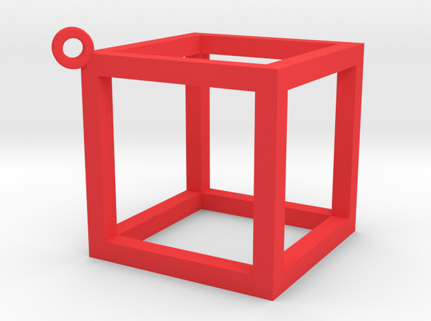 Cubo in Red Processed Versatile Plastic