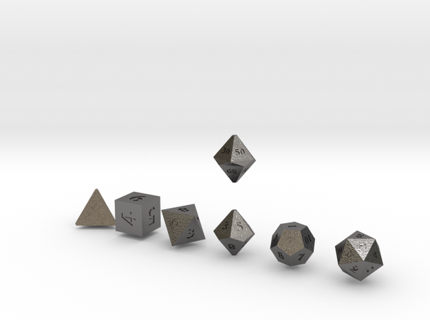 QUADRANT Sharp Innies dice in Polished Nickel Steel
