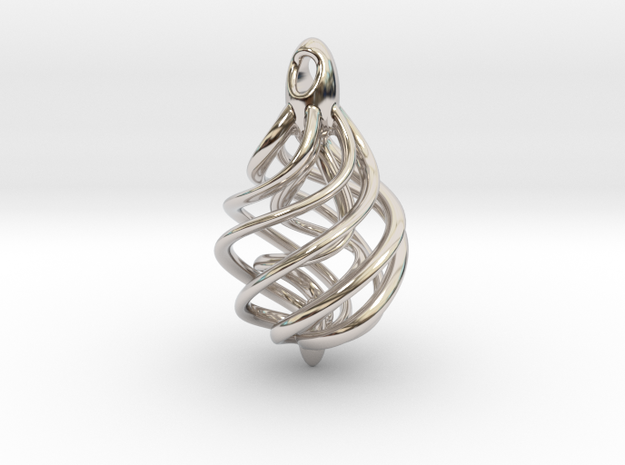 DNA Teardrop Pendant