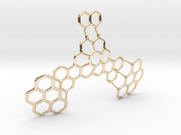 Hex Honeybird - 9cm in 14K Yellow Gold