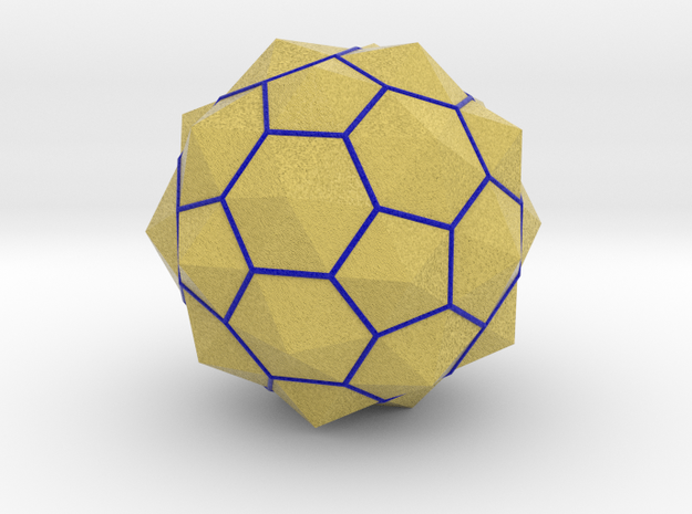 Truncated Icosahedron - aka Football in Full Color Sandstone
