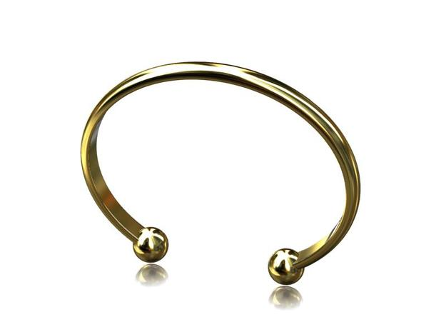 6.5mm Wide Bangle in Black Natural Versatile Plastic