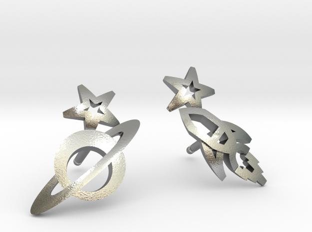 Earrings - Rocket beyond Barriers in Natural Silver
