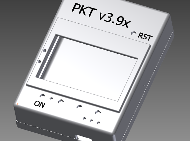PKT V3.9x 3d printed a 3D model of the assembled case