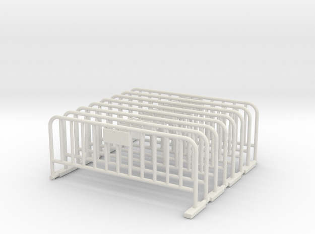 Barrier 01 (portable fence). O Scale (1:48) in White Natural Versatile Plastic