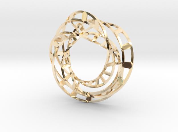 Mobius Pendant in 14K Yellow Gold