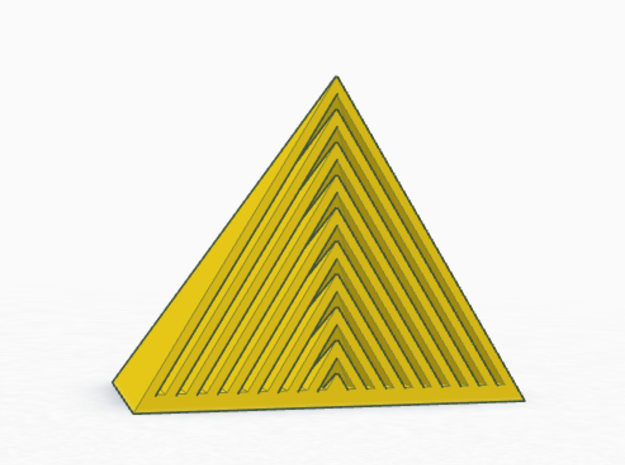 Harmonic Pyramid in Polished Brass