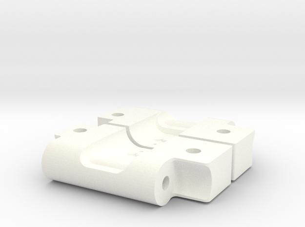 RPM73282 Arm Mounts for RC10 (3-1) in White Processed Versatile Plastic