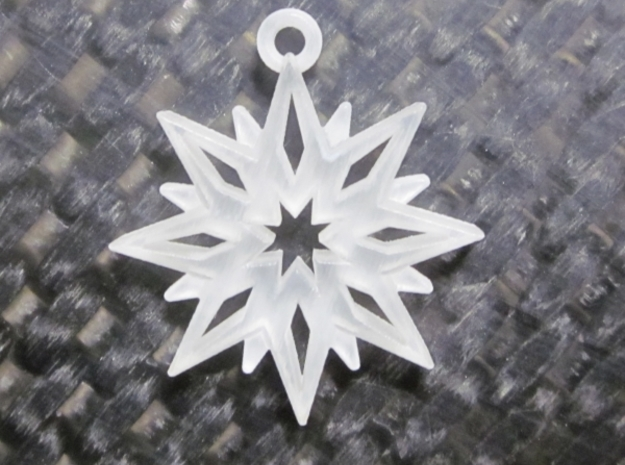 Snowflake Pendant in Smooth Fine Detail Plastic