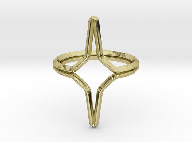 YOUNIVERSAL YY.01, ring US size 3.5, d=14,5mm(all  in 18k Gold Plated Brass: 3.5 / 45.25