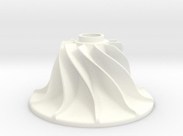 Turbinenrad in White Processed Versatile Plastic