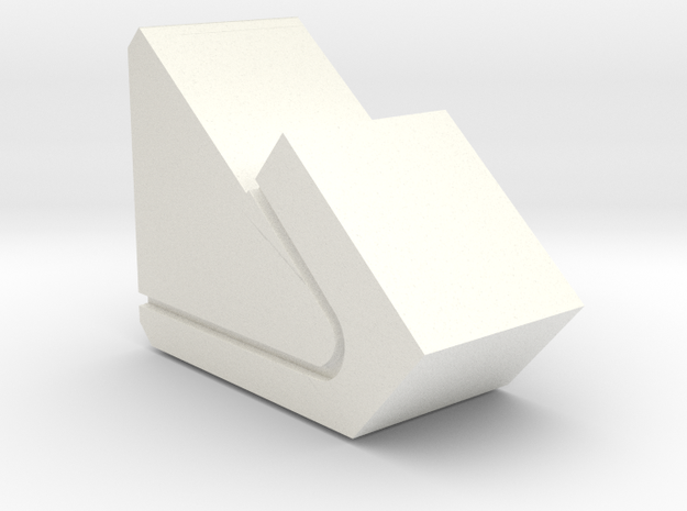 PEBBLE STAND in White Strong & Flexible Polished