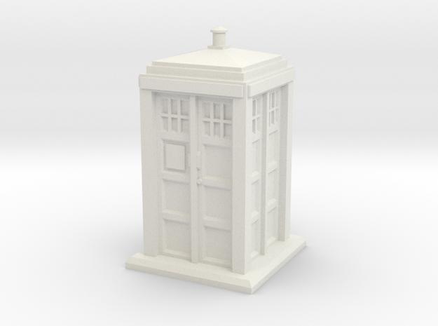HO/OO Gauge - Police Box in White Natural Versatile Plastic